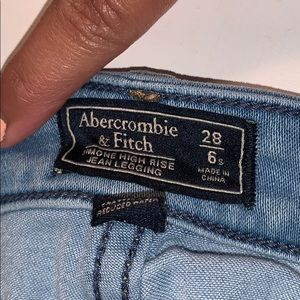 Abercrombie & Fitch Jeans - Abercrombie & Fitch Simone High rise jean leggings